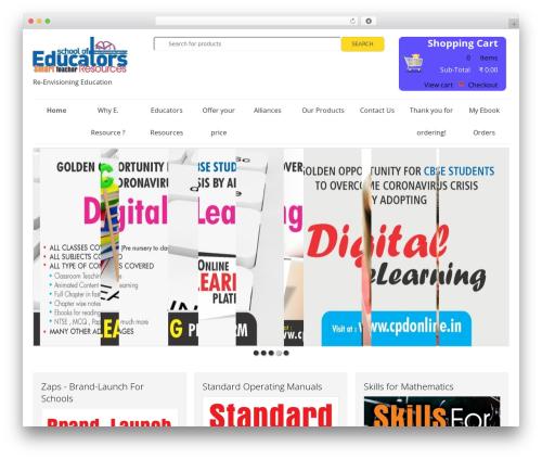 SmartShop WordPress ecommerce theme - educatorsresource.in