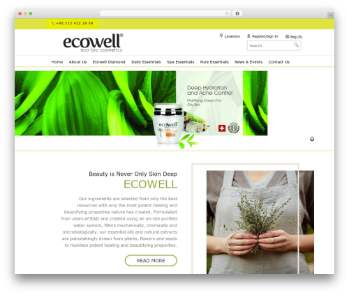 SmartShop WordPress shopping theme - ecowell.net