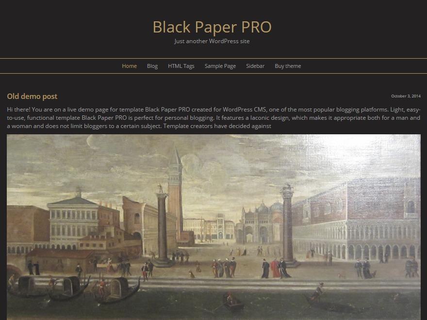Theme WordPress Black Paper Pro
