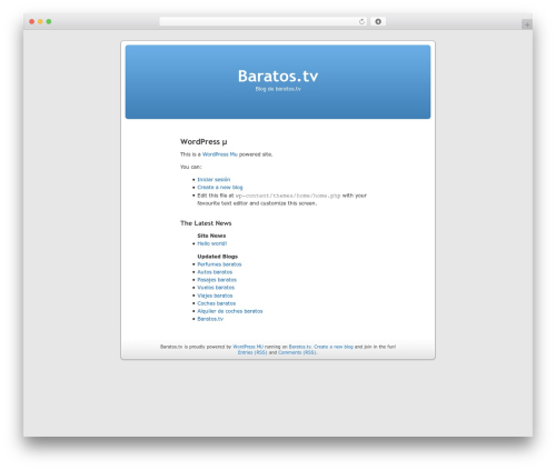 WordPress mu Homepage WP template - baratos.tv