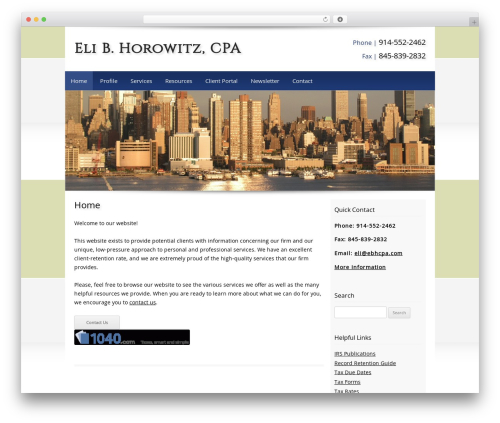 WordPress template Customized - ebhcpa.com