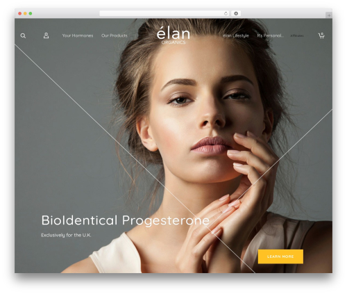 Atelier WordPress website template - elan-organics.com