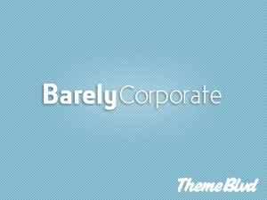 Barely Corporate personal blog WordPress theme