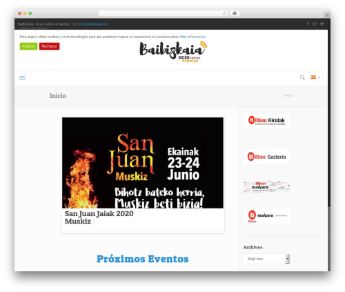 WordPress spain-cookie-law plugin - baibizkaia.com
