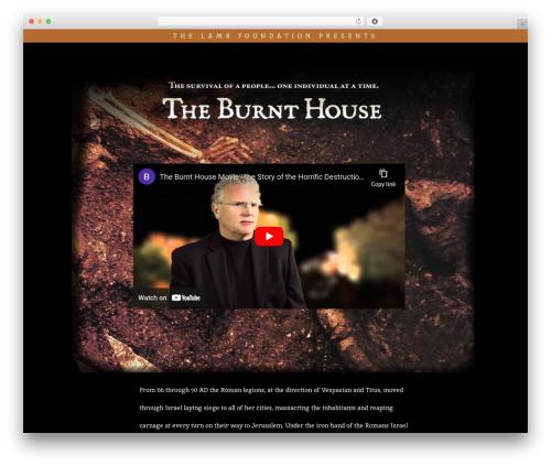 BLANK Theme template WordPress - burnthousemovie.com
