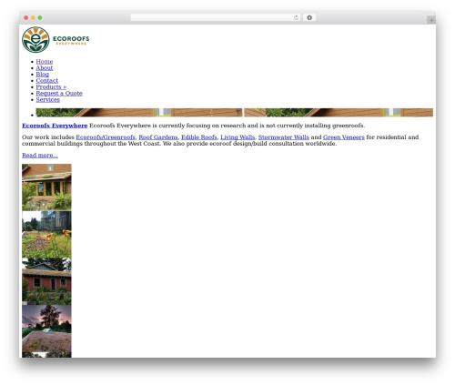 ePhoto landscaping WordPress theme - ecoroofseverywhere.com
