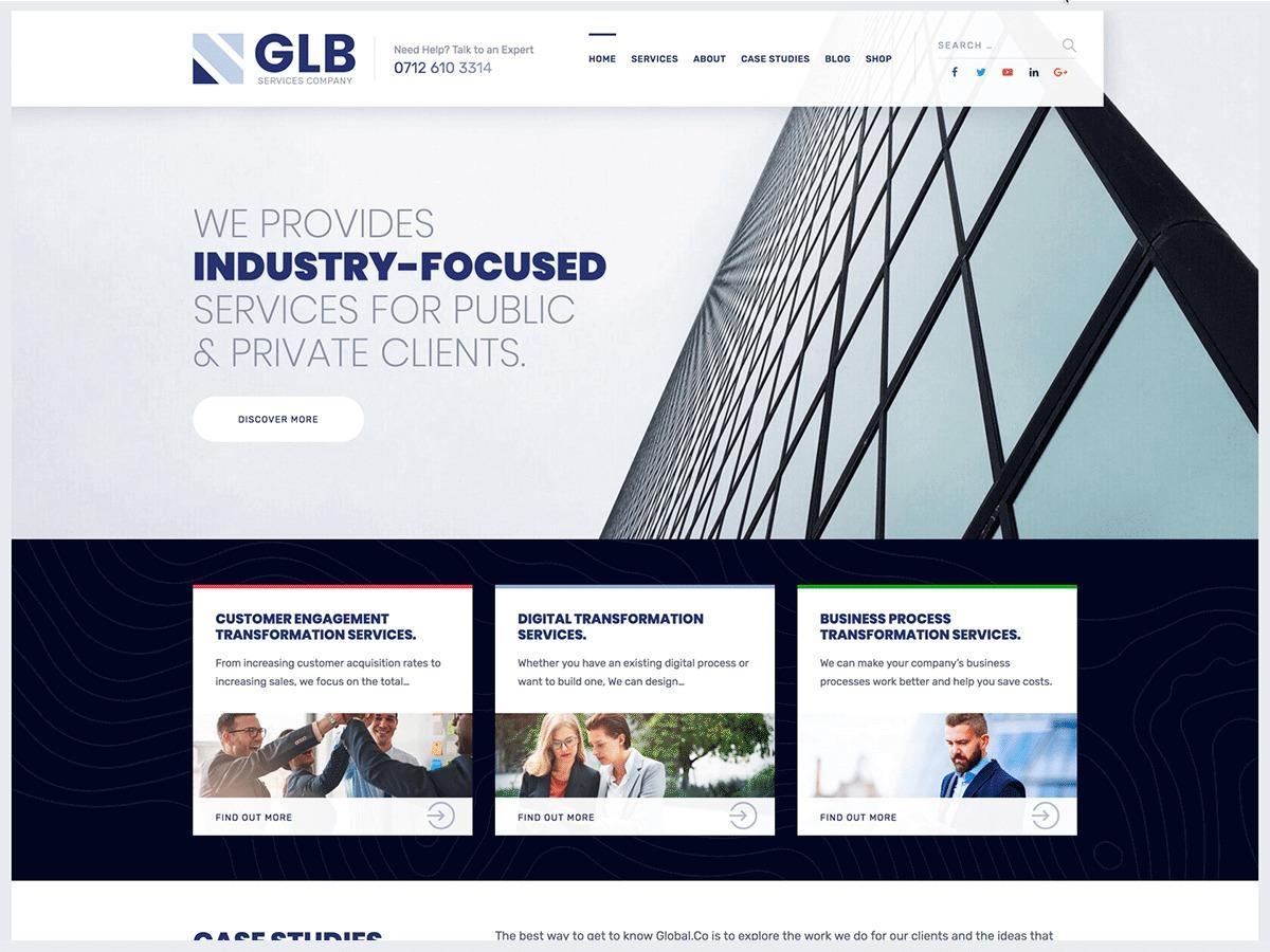 GLB WordPress website template