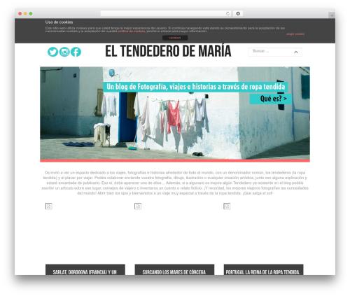 Reco WordPress theme - eltendederodemaria.com