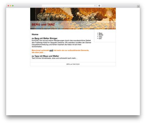 Theme WordPress Autumn Leaves - bergundtanz.ch