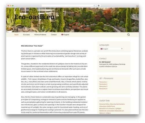 Twenty Thirteen free WordPress theme - eco-oasis.eu