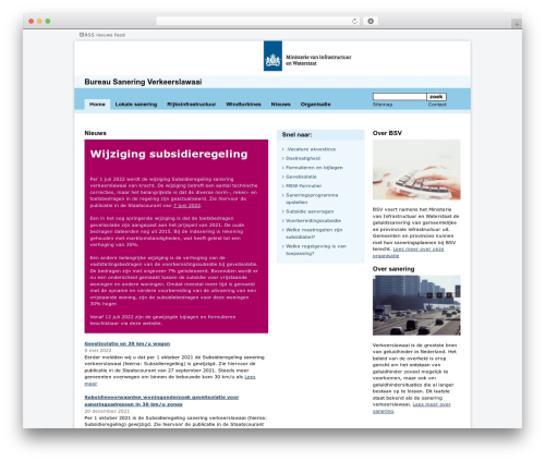 WordPress website template BSV Theme - bureausaneringverkeerslawaai.nl