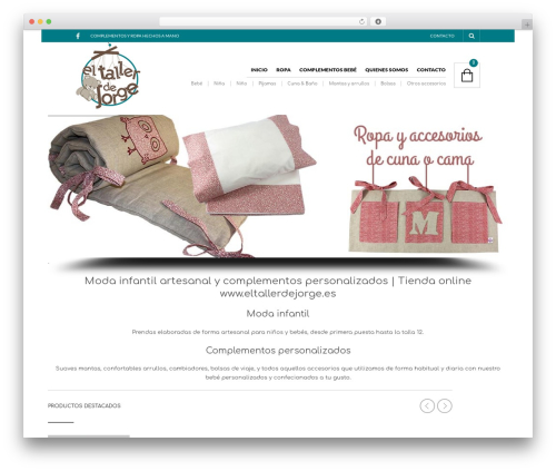 WordPress website template The Retailer - eltallerdejorge.es