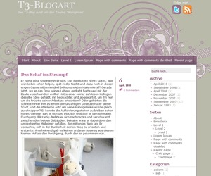 A little touch of purple WordPress blog template