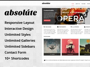 absolute WordPress magazine theme