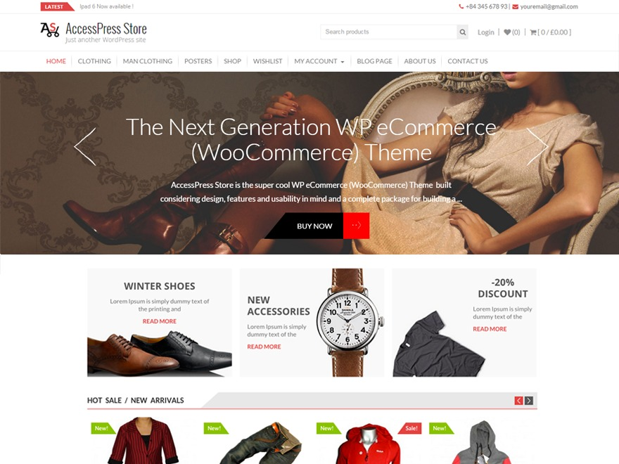 AccessPress Store WordPress store theme