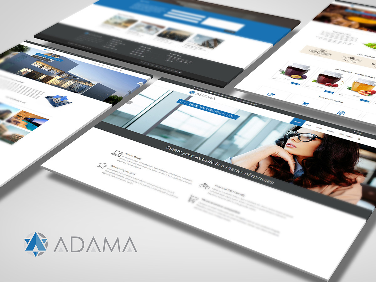 Adama best WordPress template
