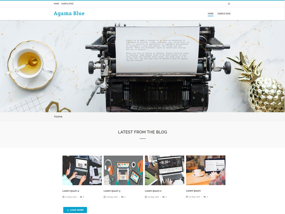 Agama Blue free WordPress theme