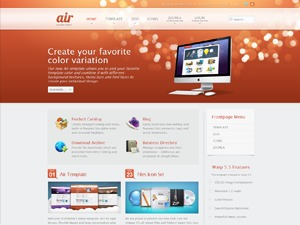 Air WordPress page template