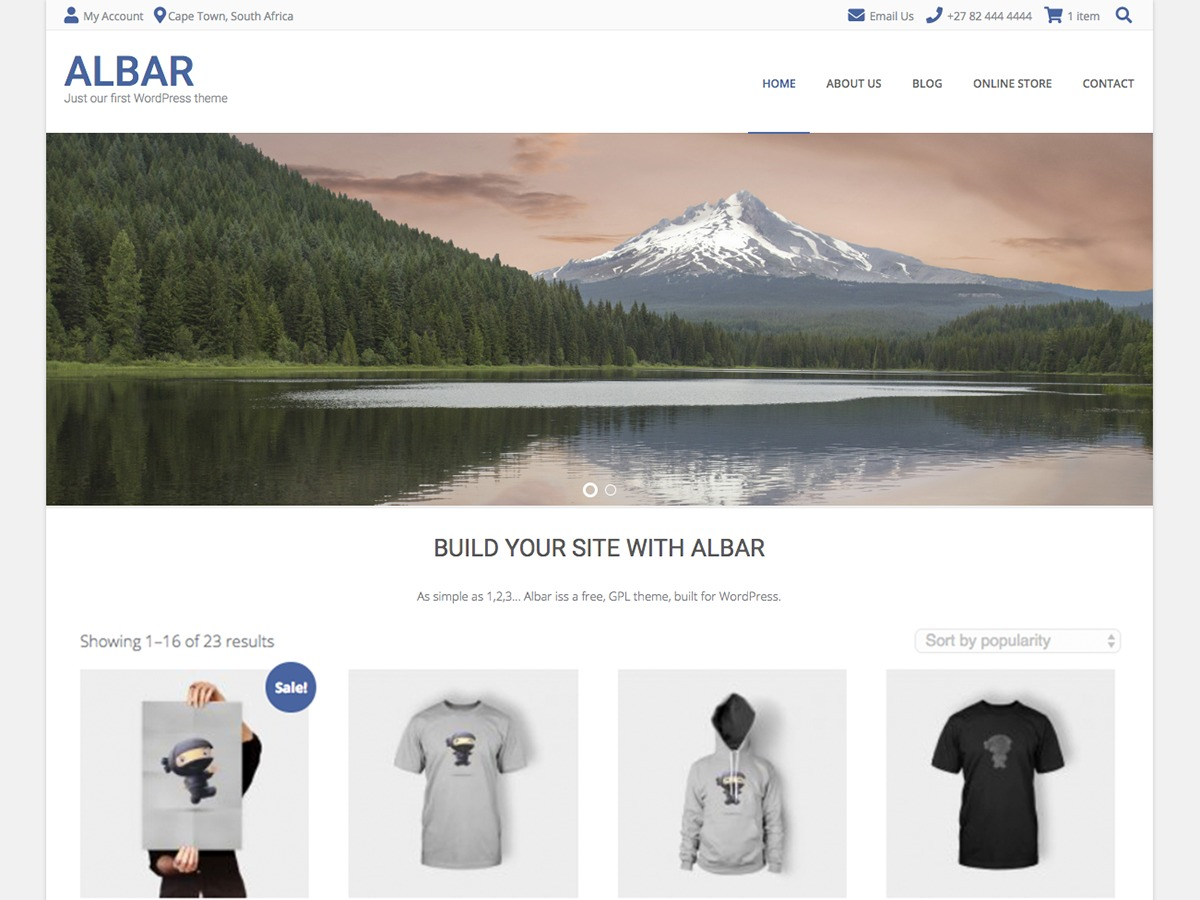 Albar WordPress theme download