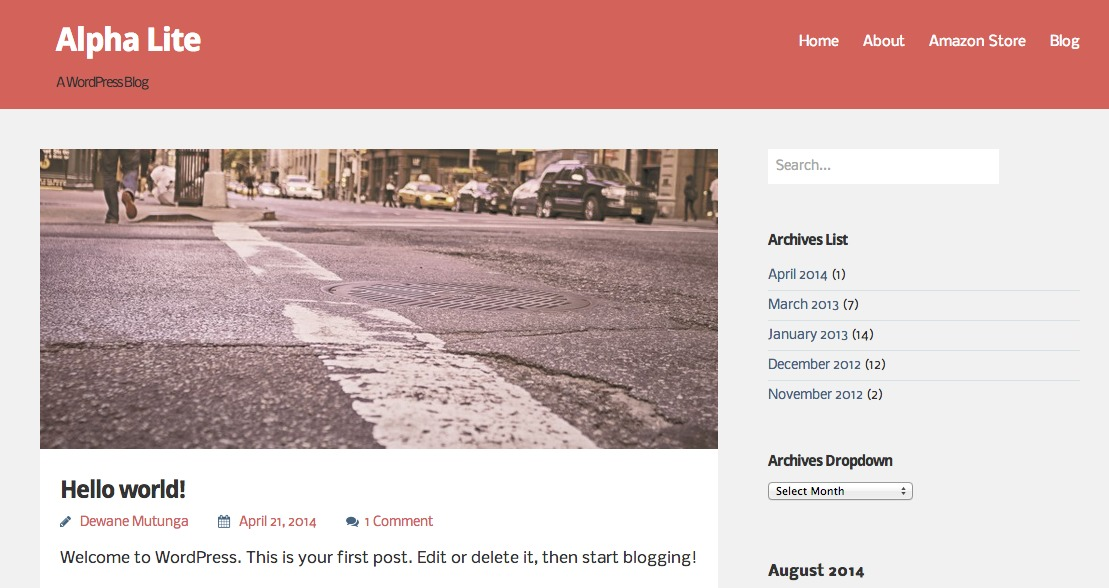 Alpha Lite template WordPress