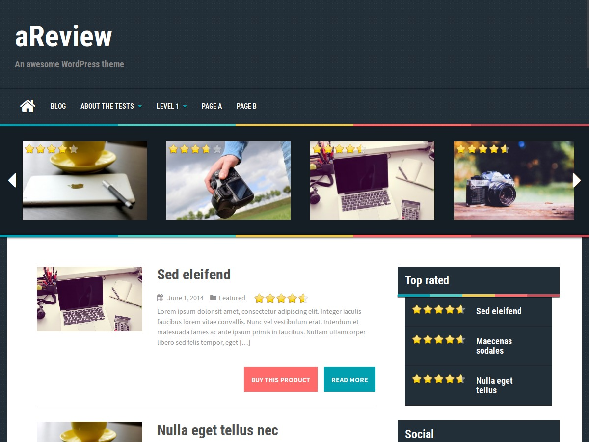 aReview WordPress video theme
