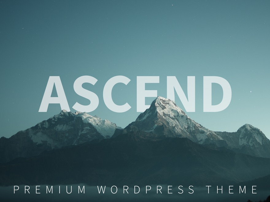 Ascend - Premium WordPress theme
