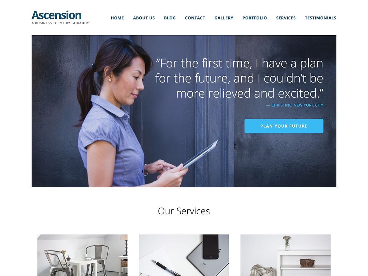 Ascension business WordPress theme