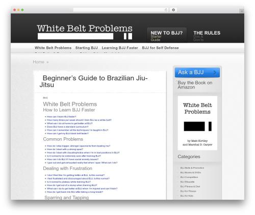 AskIt WordPress theme - whitebeltproblems.com