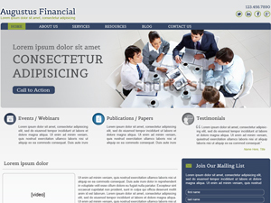 Augustus WordPress template for business