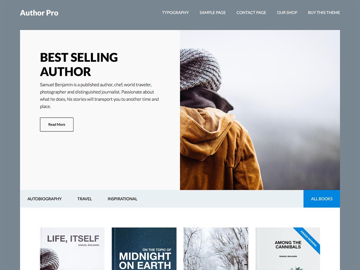 Author Pro template WordPress