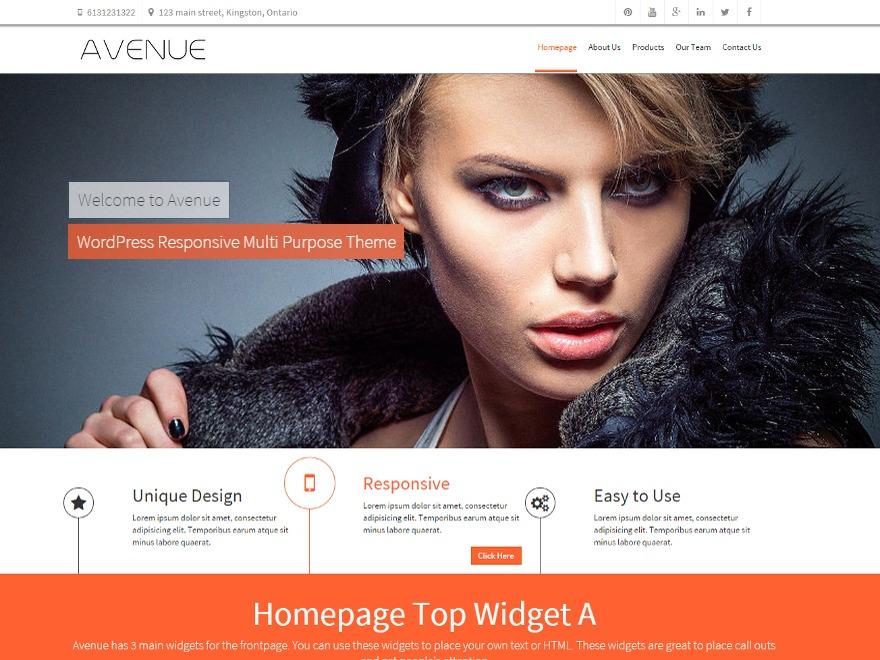 Avenue Pro WordPress blog template
