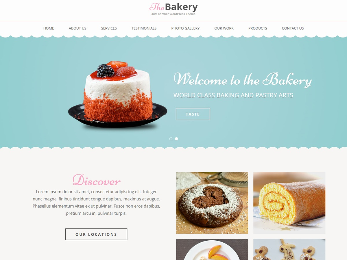 Bakes And Cakes WordPress ecommerce template
