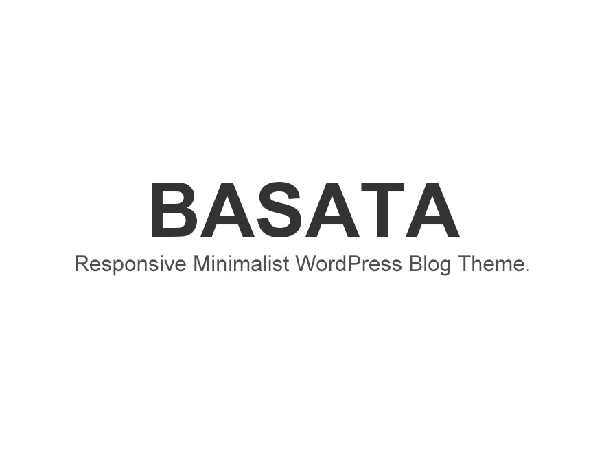 Basata WordPress blog theme