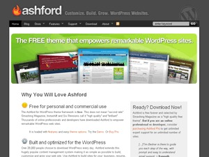 Best WordPress template Ashford