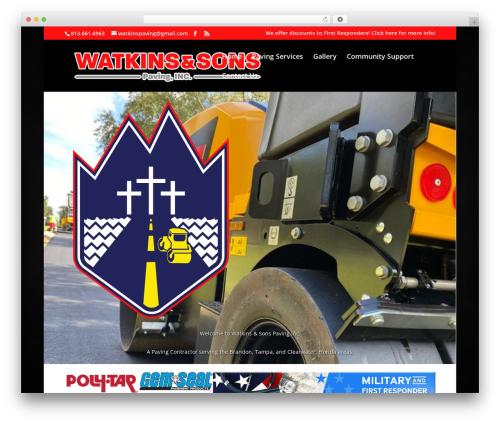 Best WordPress template Divi - wnspaving.com
