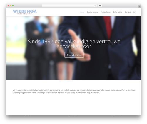 Best WordPress template Divi - wiebenga.com