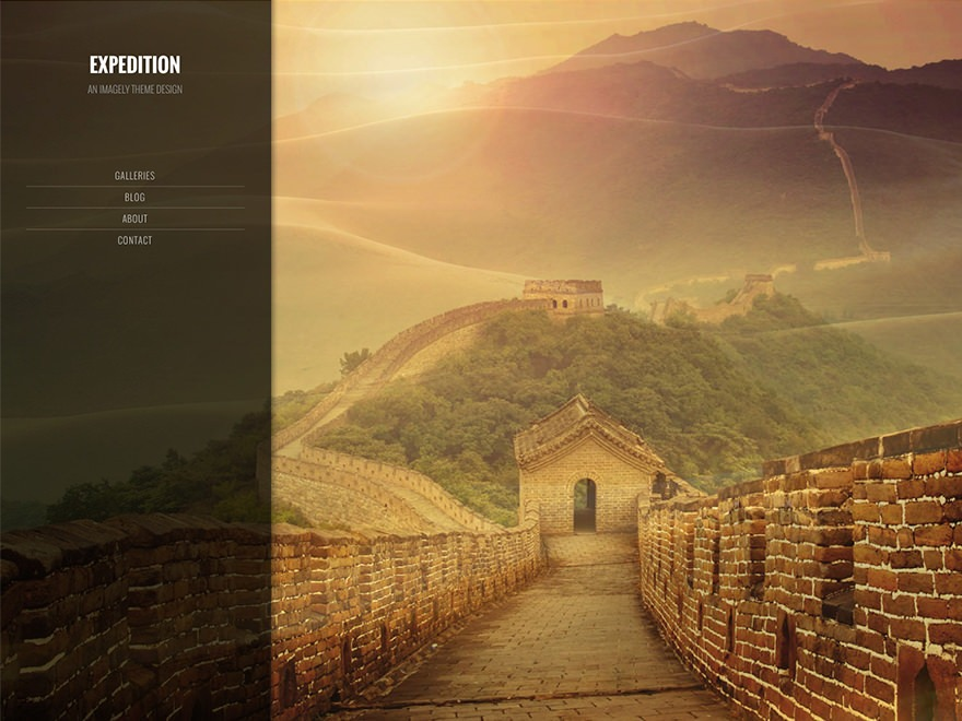 Best WordPress template Imagely Expedition