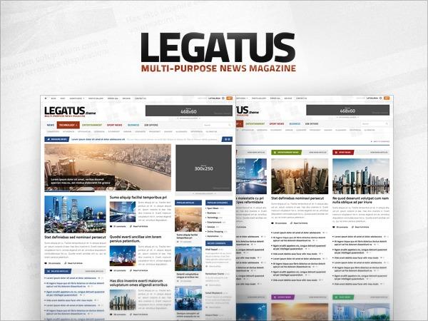 Best WordPress template Legatus Theme