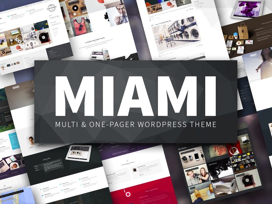 Best WordPress template Miami - Multipurpose Responsive WordPress Theme