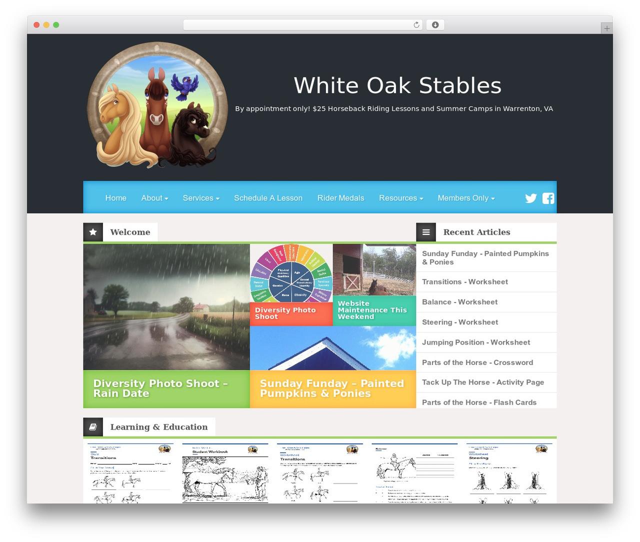 Best WordPress template Reviewgine Affiliate - white-oak-stables.com