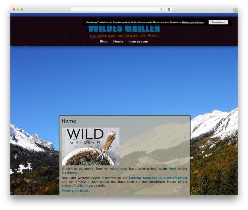 Best WordPress theme Adventure - wildes-grillen.at