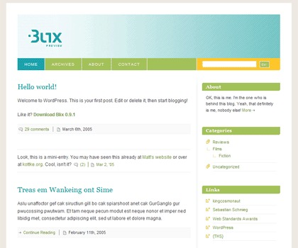 Best WordPress theme Blix