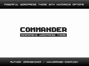 Best WordPress theme COMMANDER THEME