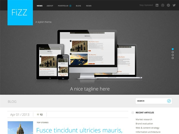 Best WordPress theme Fizz