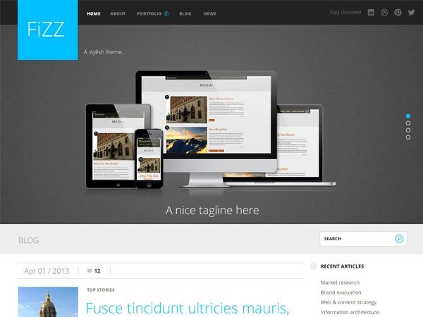 Best WordPress theme Fizz
