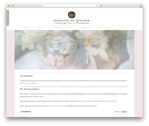 Best WordPress theme ProPhoto - weddingsbyheather.com