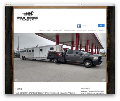 Best WordPress theme SKT Biz - wildhorsetransport.com
