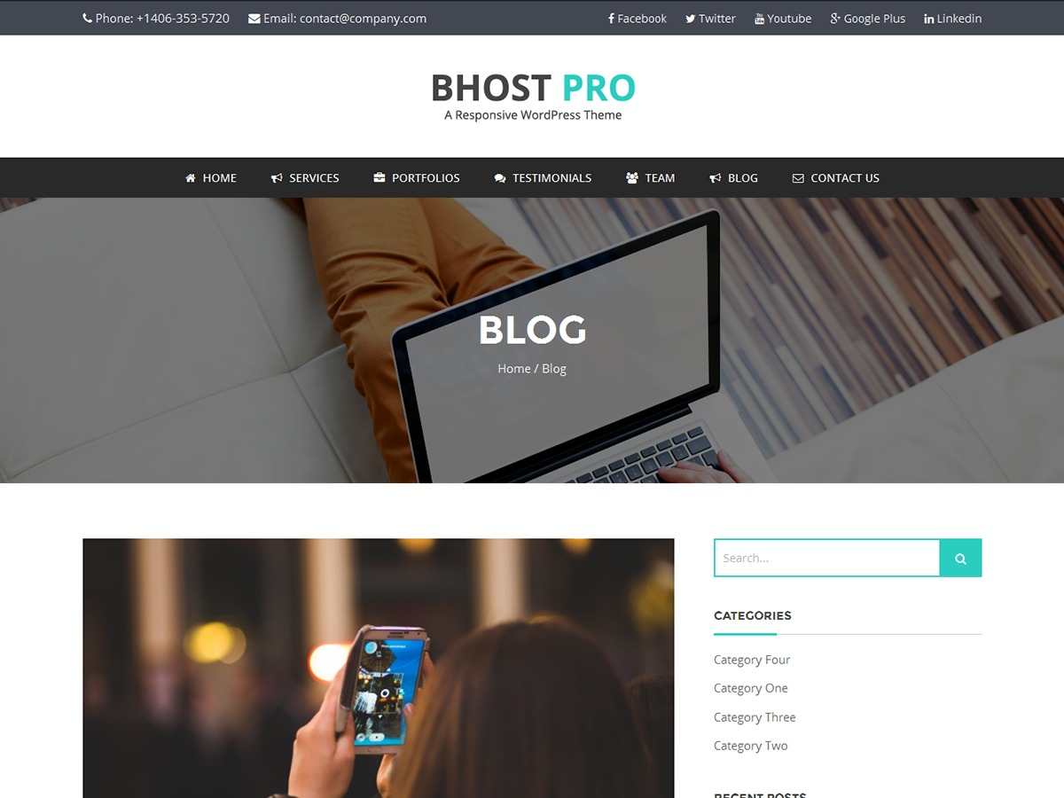 BHost theme free download
