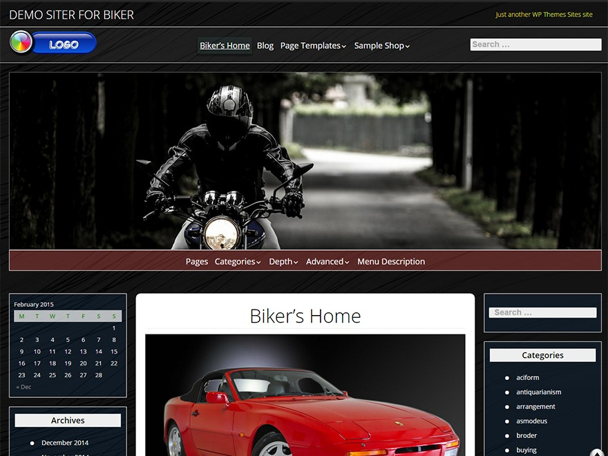 Biker WordPress blog theme