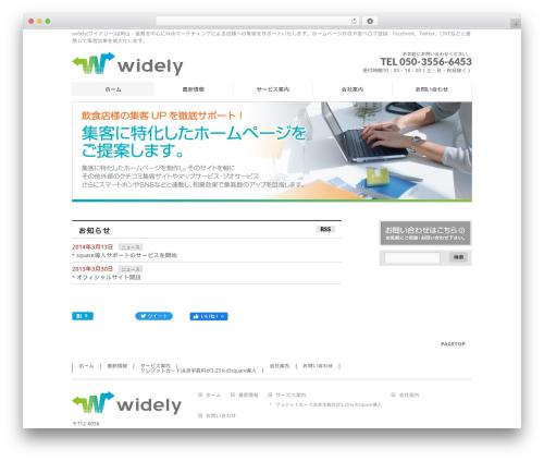 BizVektor WP theme - widely.jp